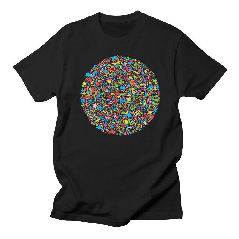 Circle in Men's Regular T-Shirt Black by Orlando Soy Yo!