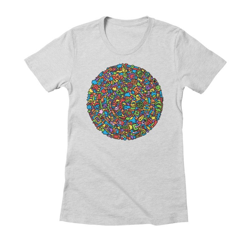 Circle Women's Fitted T-Shirt by Orlando Soy Yo!