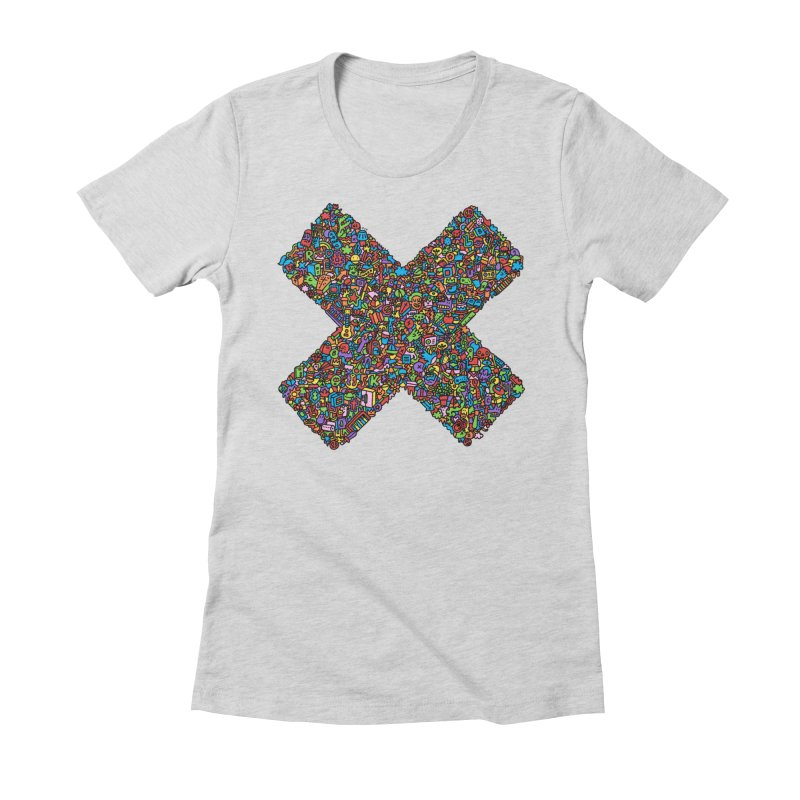 X Women's Fitted T-Shirt by Orlando Soy Yo!