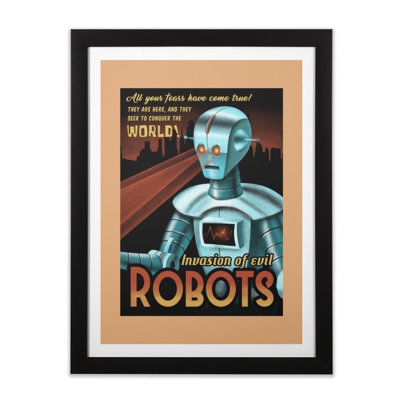 Invasion of Evil Robots Home Framed Fine Art Print by Os Frontis