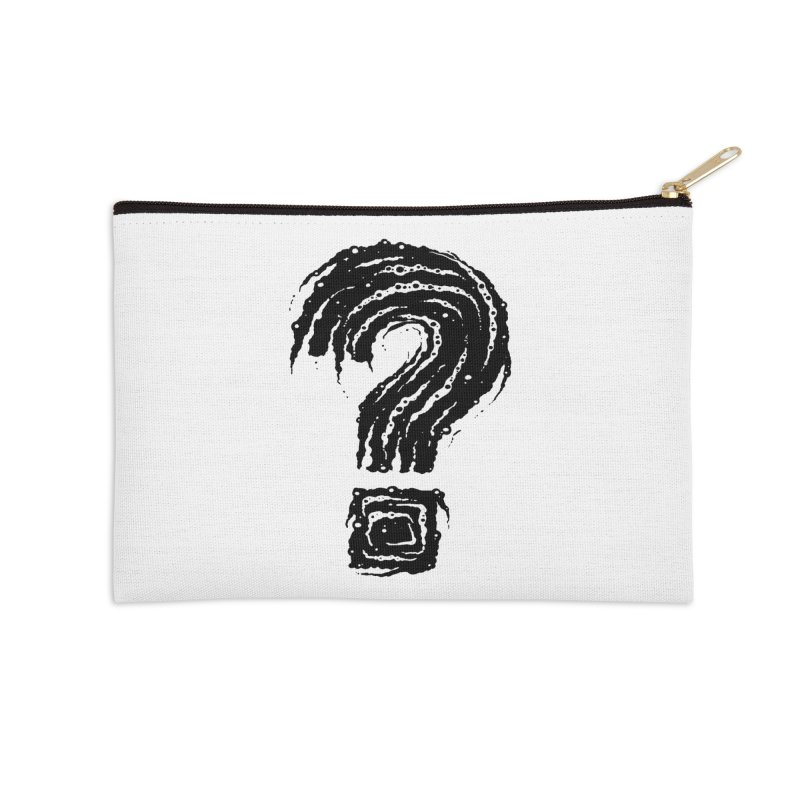 Question Mark Accessories Zip Pouch by Os Frontis