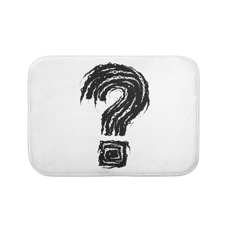 Question Mark Home Bath Mat by Os Frontis