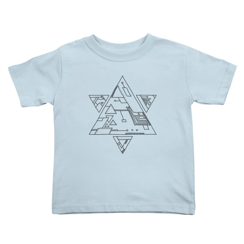 Robotic Hexagram Kids Toddler T-Shirt by Os Frontis