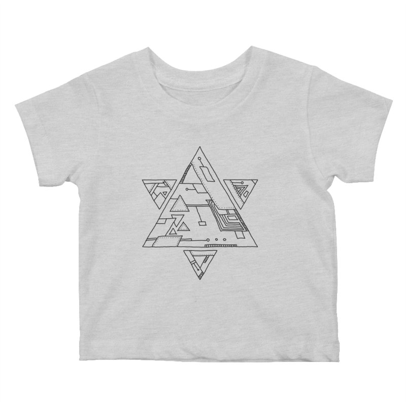 Robotic Hexagram Kids Baby T-Shirt by Os Frontis