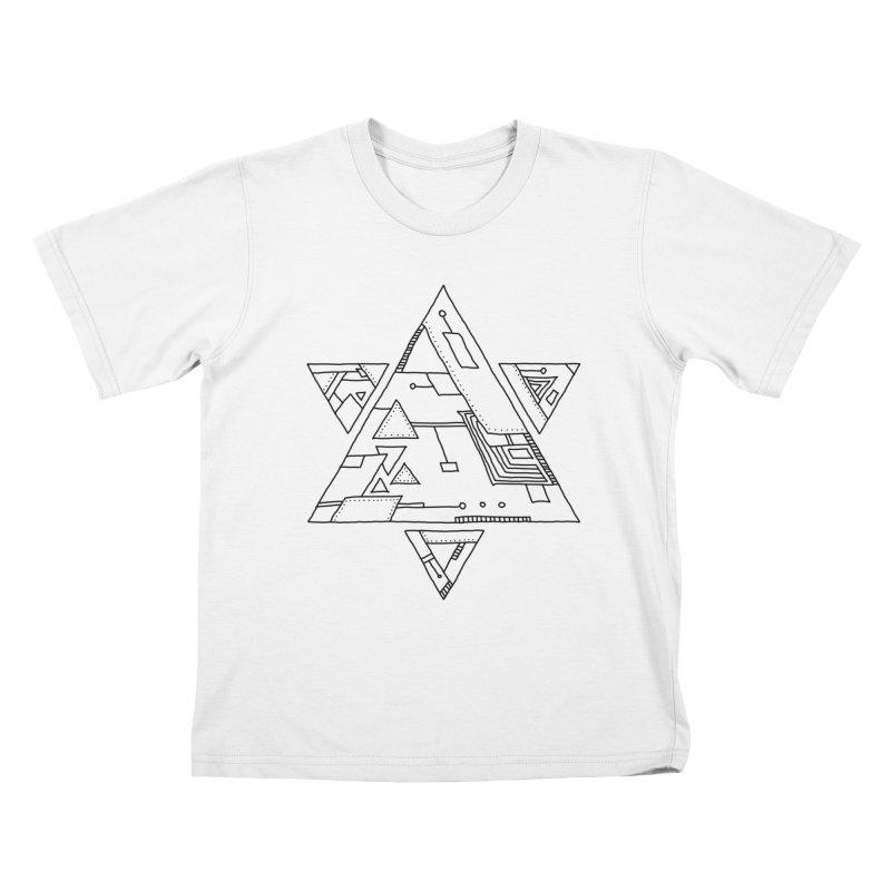 Robotic Hexagram Kids T-Shirt by Os Frontis