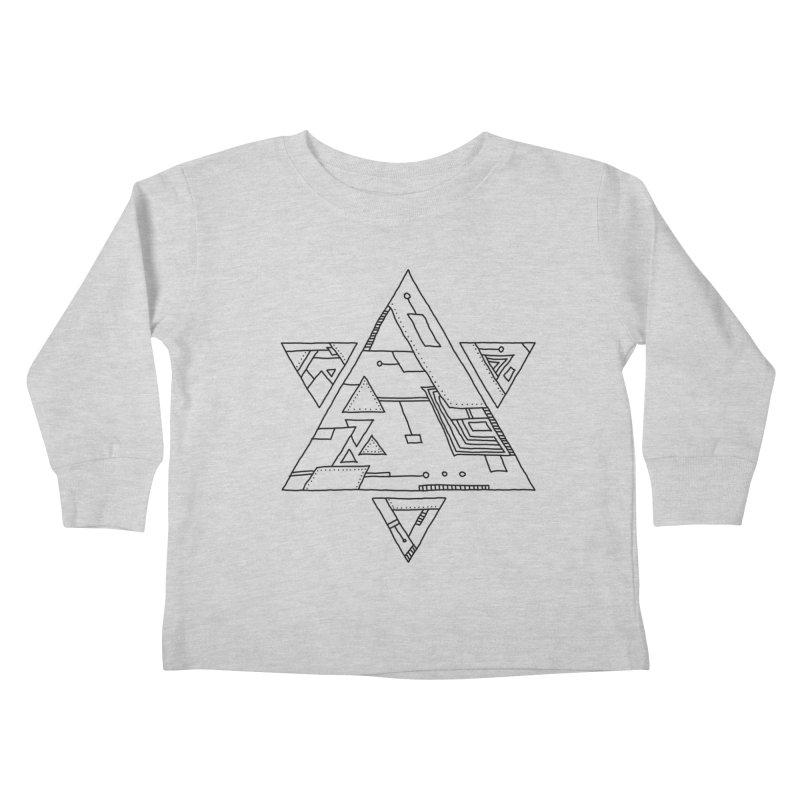 Robotic Hexagram Kids Toddler Longsleeve T-Shirt by Os Frontis
