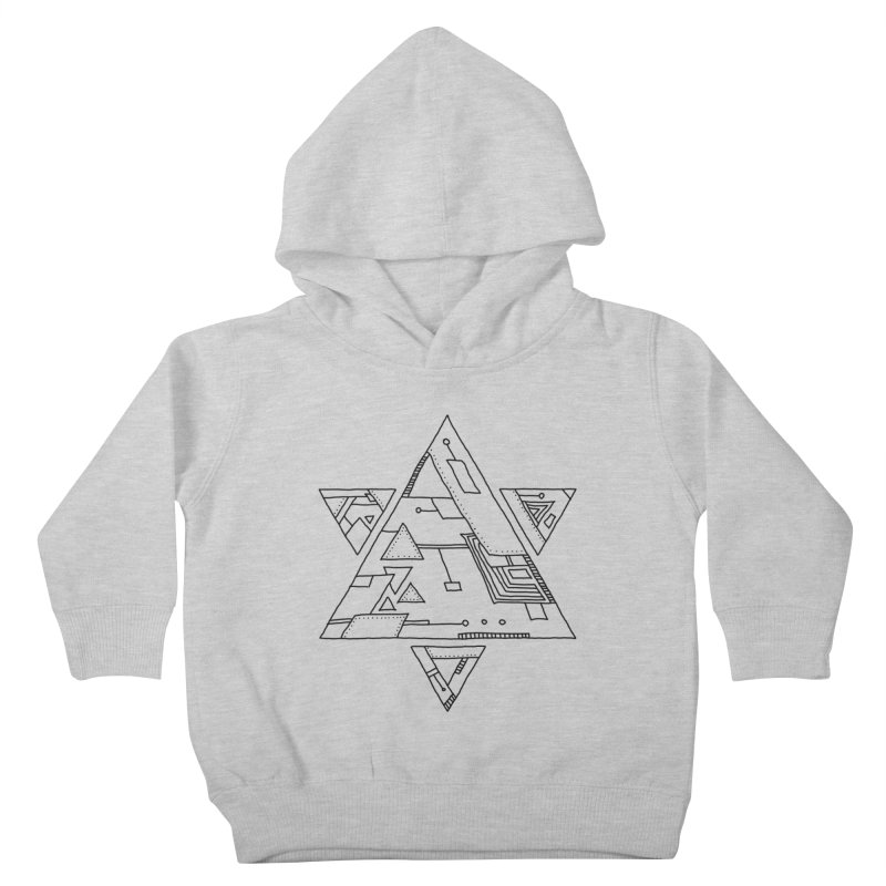 Robotic Hexagram Kids Toddler Pullover Hoody by Os Frontis