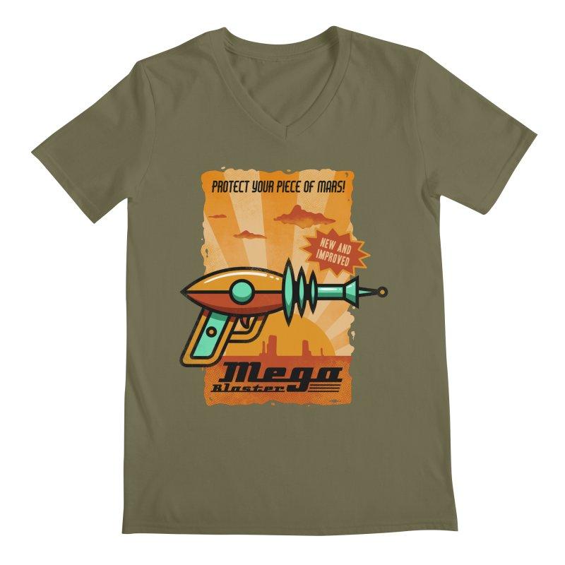 Mega blaster Men's V-Neck by Os Frontis