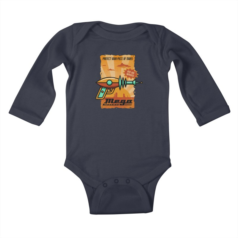 Mega blaster Kids Baby Longsleeve Bodysuit by Os Frontis