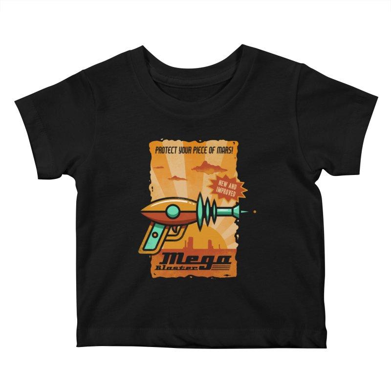Mega blaster Kids Baby T-Shirt by Os Frontis