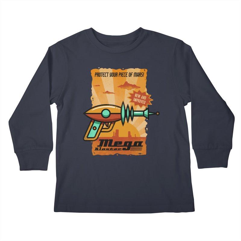 Mega blaster Kids Longsleeve T-Shirt by Os Frontis