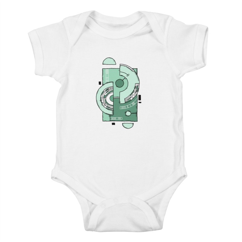 Geometric Abstraction Kids Baby Bodysuit by Os Frontis