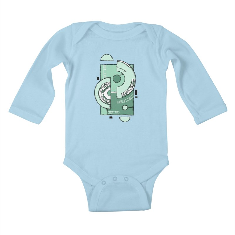 Geometric Abstraction Kids Baby Longsleeve Bodysuit by Os Frontis