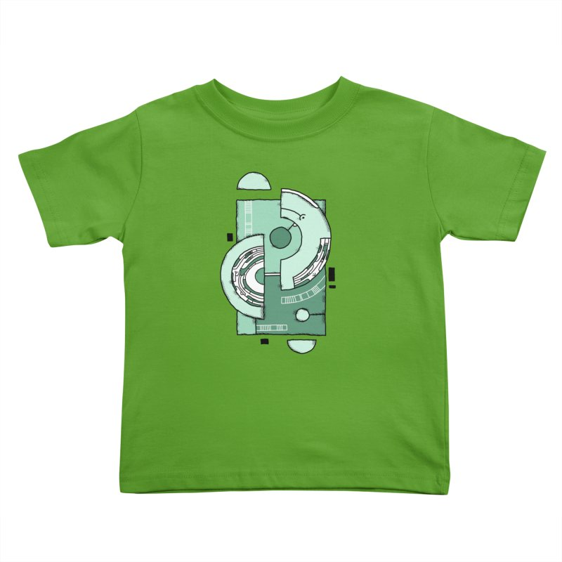 Geometric Abstraction Kids Toddler T-Shirt by Os Frontis