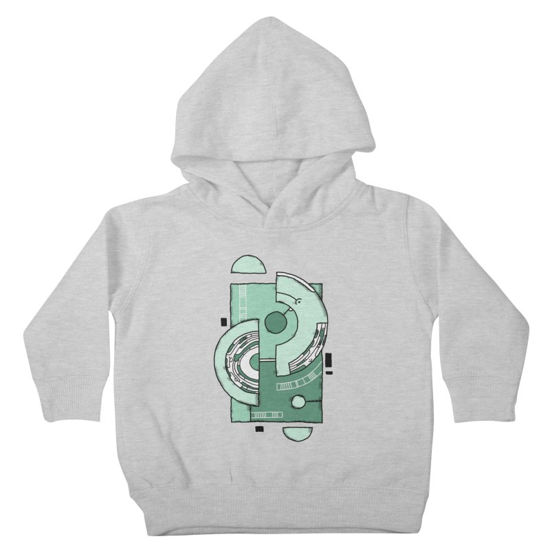 Geometric Abstraction Kids Toddler Pullover Hoody by Os Frontis