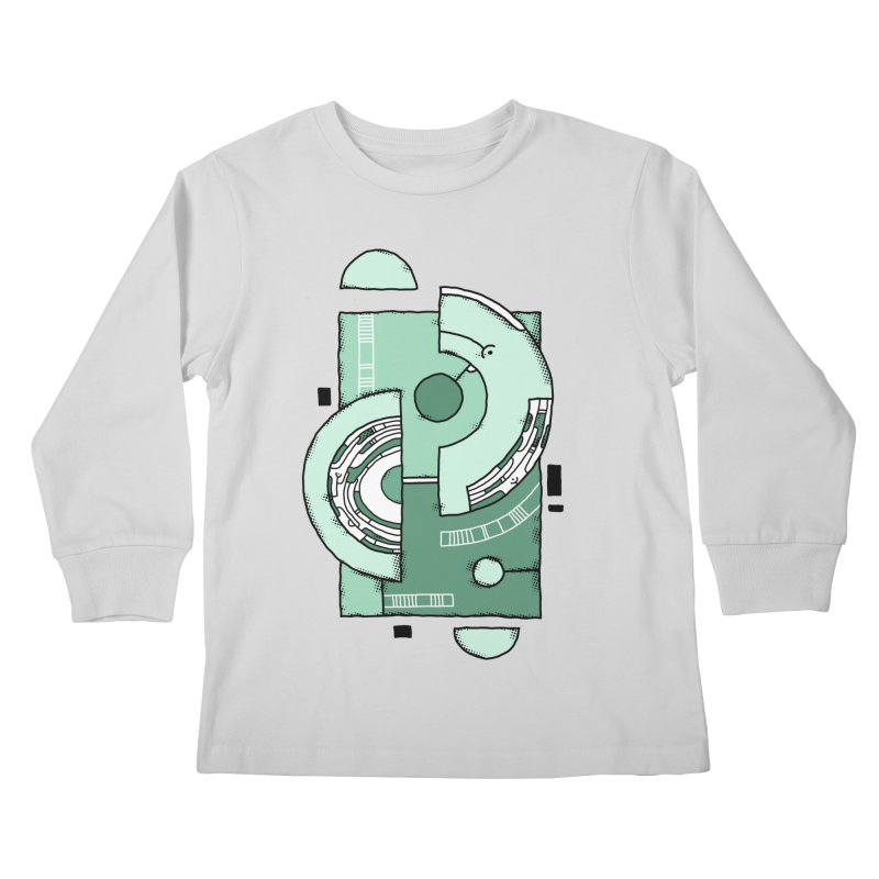 Geometric Abstraction Kids Longsleeve T-Shirt by Os Frontis