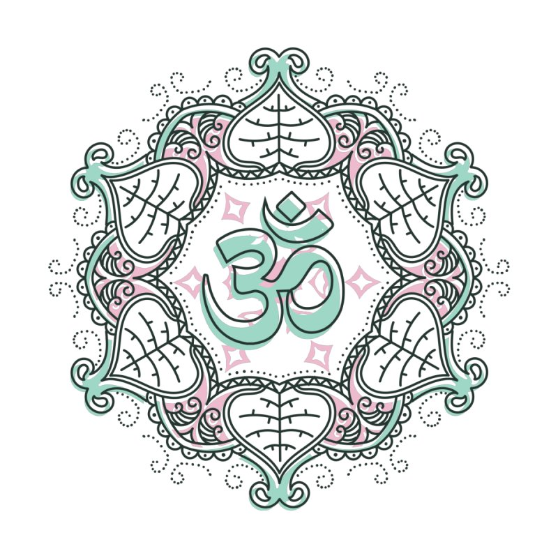 Om Mandala Men's T-Shirt by Os Frontis