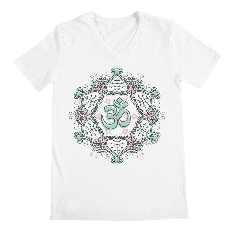 Om Mandala Men's V-Neck by Os Frontis