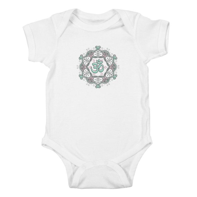 Om Mandala Kids Baby Bodysuit by Os Frontis