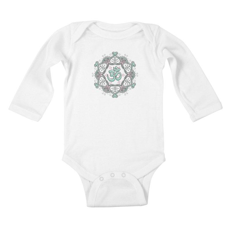 Om Mandala Kids Baby Longsleeve Bodysuit by Os Frontis