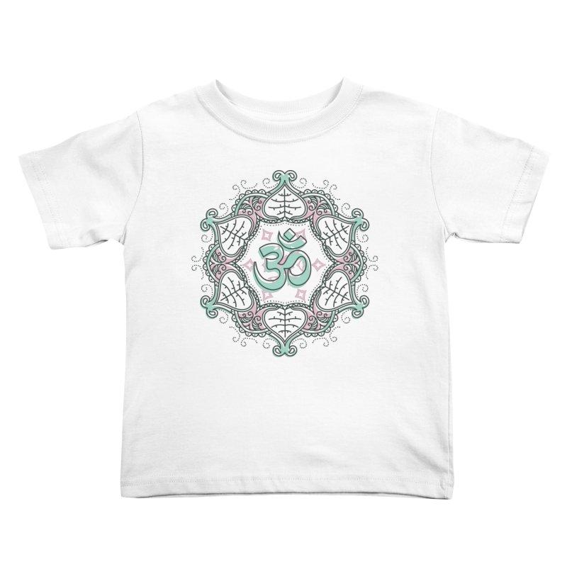Om Mandala Kids Toddler T-Shirt by Os Frontis