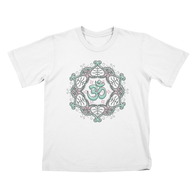 Om Mandala Kids T-Shirt by Os Frontis
