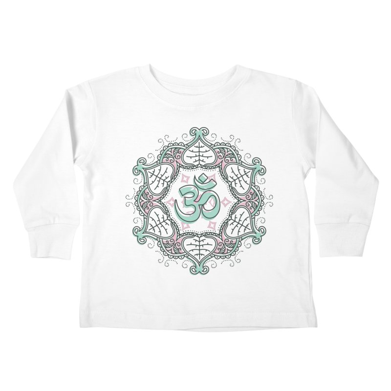 Om Mandala Kids Toddler Longsleeve T-Shirt by Os Frontis