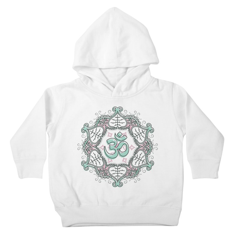 Om Mandala Kids Toddler Pullover Hoody by Os Frontis