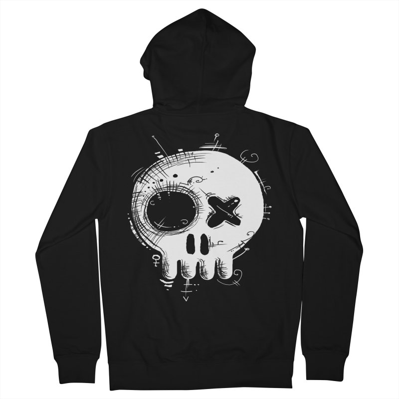 Voodoo Skull Men's Zip-Up Hoody by Os Frontis
