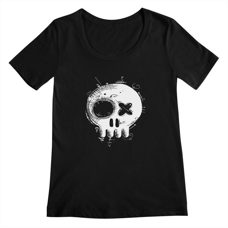 Voodoo Skull Women's Scoopneck by Os Frontis