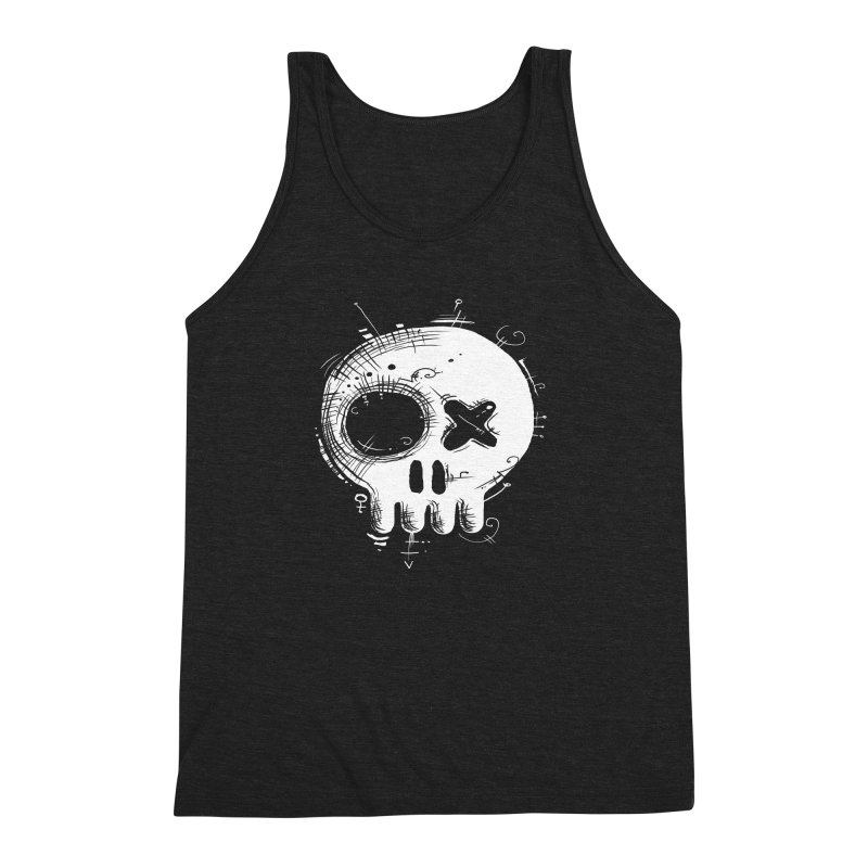Voodoo Skull Men's Triblend Tank by Os Frontis