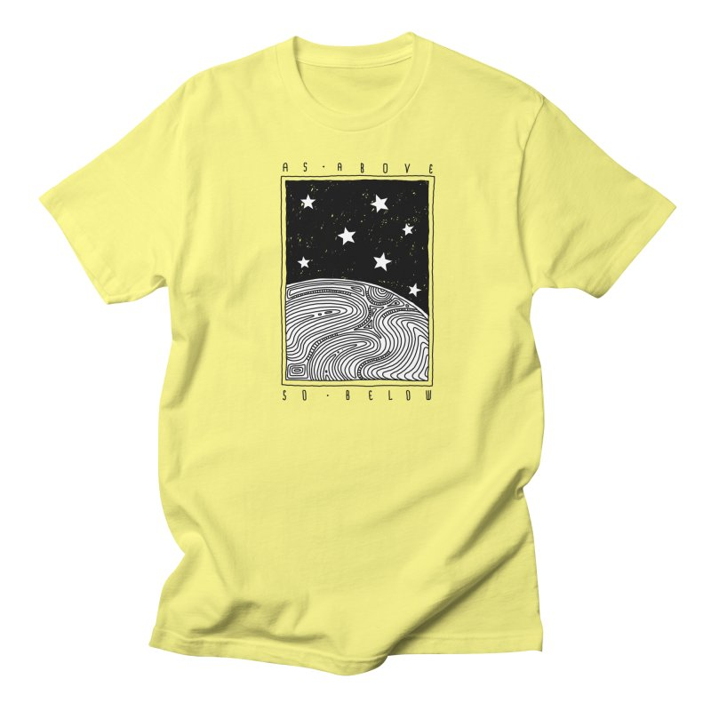 As above so below Men's T-Shirt by Os Frontis