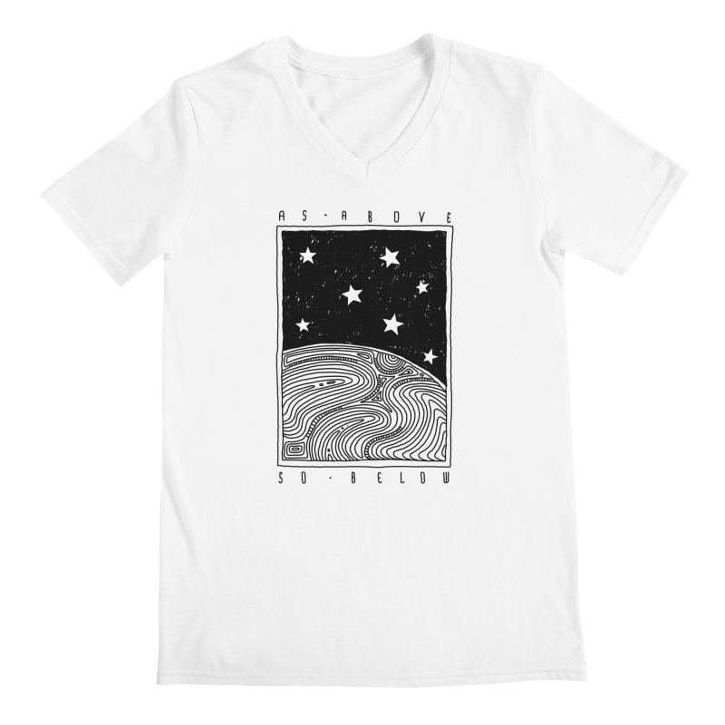 As above so below Men's V-Neck by Os Frontis