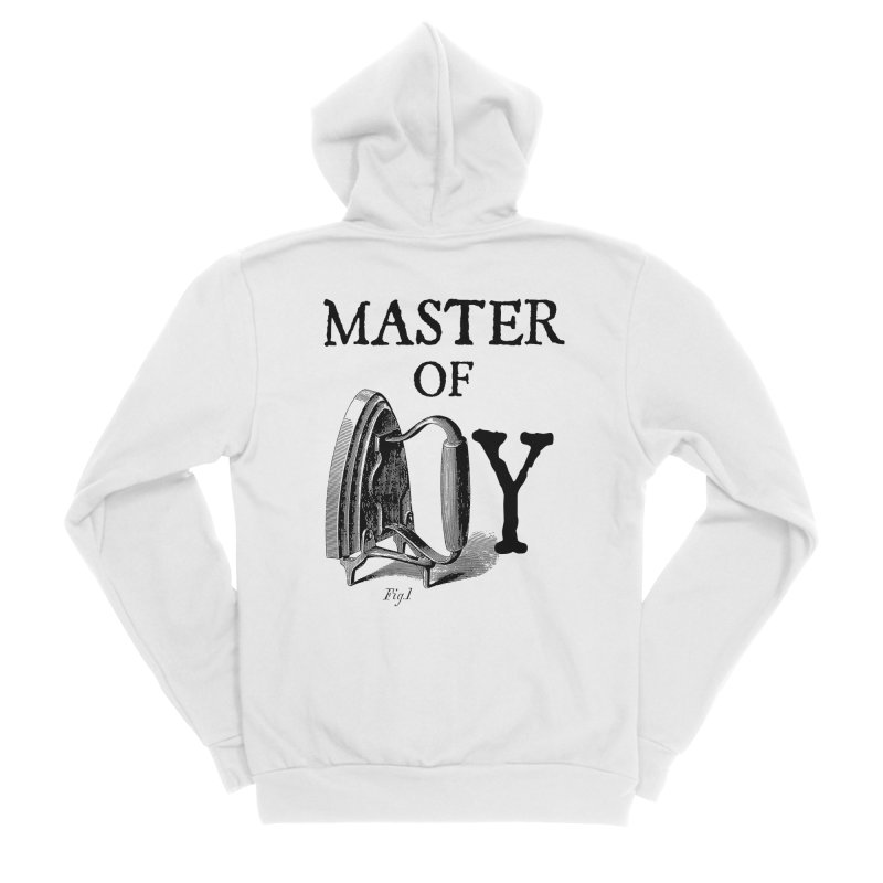 Master of irony Men's Zip-Up Hoody by Os Frontis