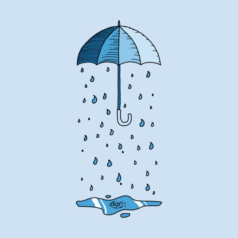Raining Umbrella Men's V-Neck by Os Frontis