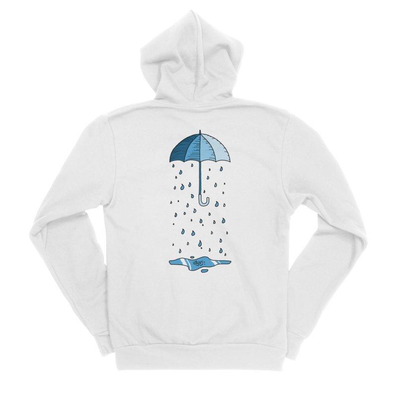 Raining Umbrella Men's Zip-Up Hoody by Os Frontis