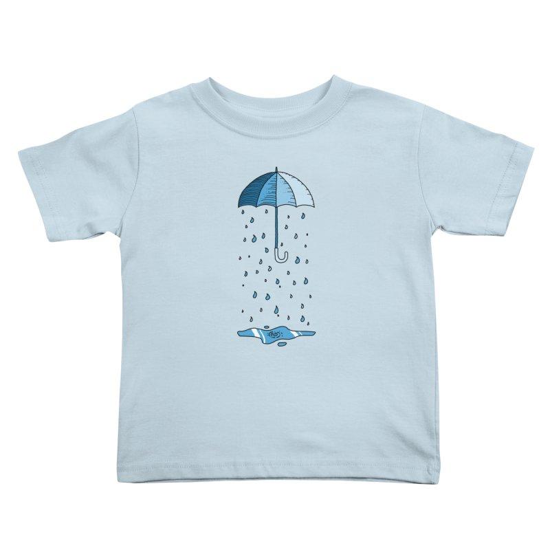 Raining Umbrella Kids Toddler T-Shirt by Os Frontis