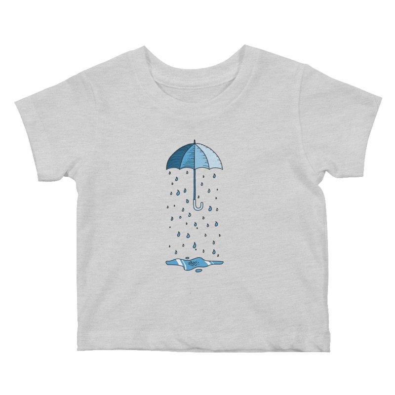 Raining Umbrella Kids Baby T-Shirt by Os Frontis
