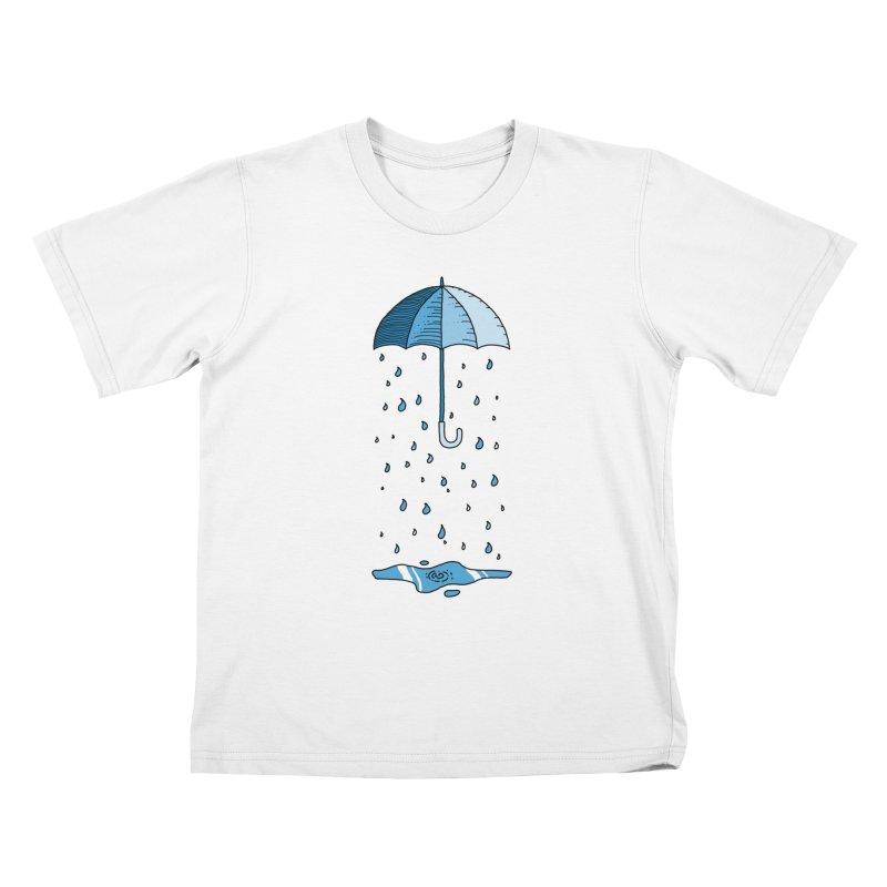 Raining Umbrella Kids T-Shirt by Os Frontis
