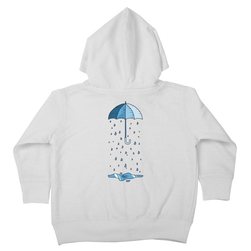 Raining Umbrella Kids Toddler Zip-Up Hoody by Os Frontis