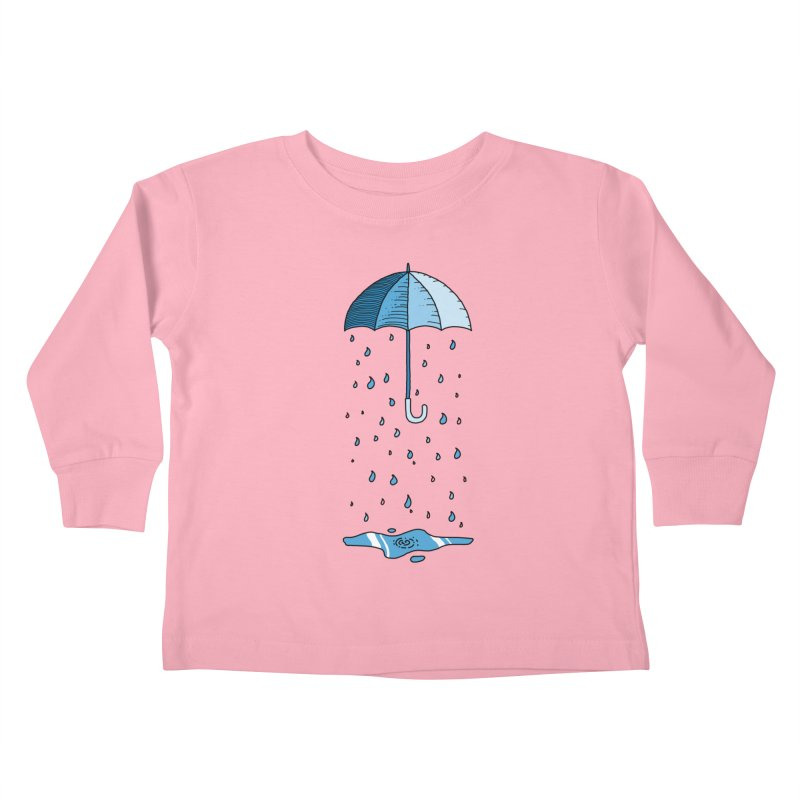Raining Umbrella Kids Toddler Longsleeve T-Shirt by Os Frontis