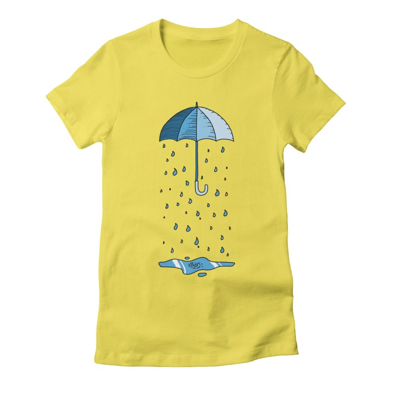 Raining Umbrella Women's T-Shirt by Os Frontis