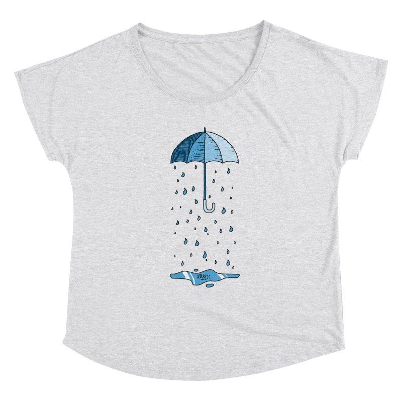 Raining Umbrella Women's Scoop Neck by Os Frontis