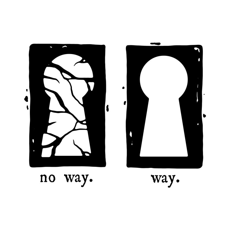 Way/No way Men's T-Shirt by Os Frontis