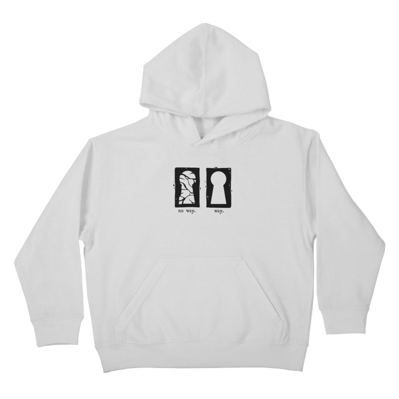 Way/No way Kids Pullover Hoody by Os Frontis