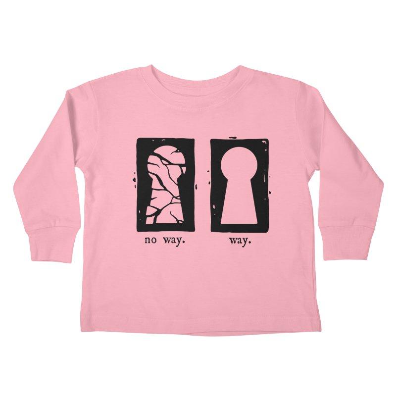 Way/No way Kids Toddler Longsleeve T-Shirt by Os Frontis