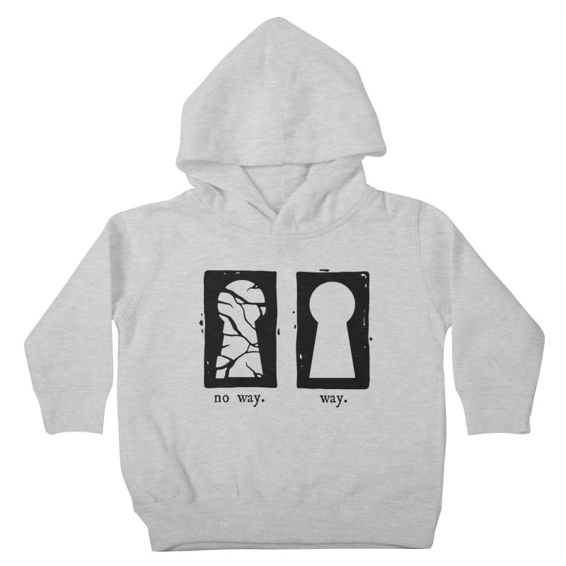 Way/No way Kids Toddler Pullover Hoody by Os Frontis