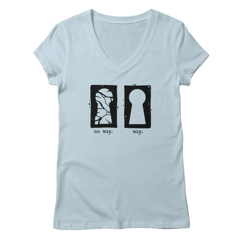 Way/No way Women's V-Neck by Os Frontis