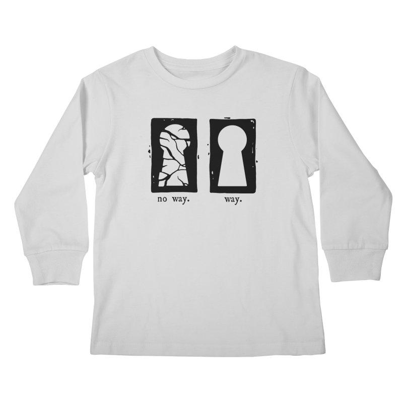 Way/No way Kids Longsleeve T-Shirt by Os Frontis
