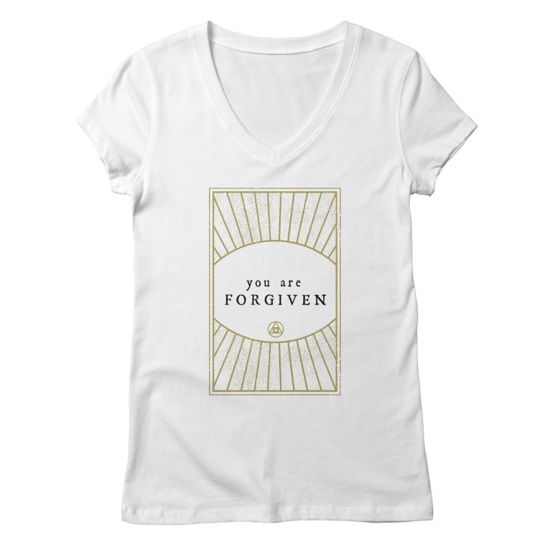You are forgiven Women's V-Neck by Os Frontis